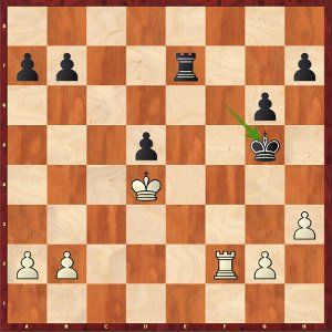 Mvl-Komodo, Odds 1; the activity of black's King makes white's life difficult.