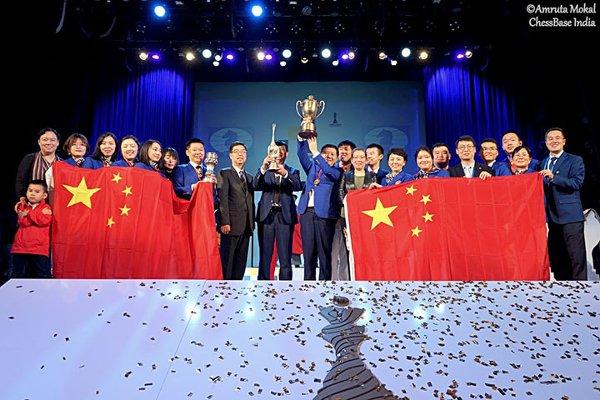 Et à la fin, c'est la Chine qui gagne! (photo Chessbase).