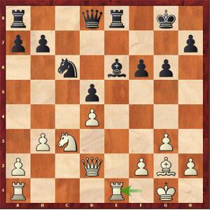 Mvl-Tari, Ronde 3. Après 21.Tfe1, le pion d5 va tomber.