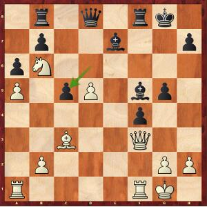Caruana-Carlsen, Game 8; white on the move has the initiative.