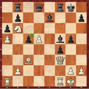 Caruana-Carlsen, Partie 8 ; les blancs au trait ont une forte initiative.
