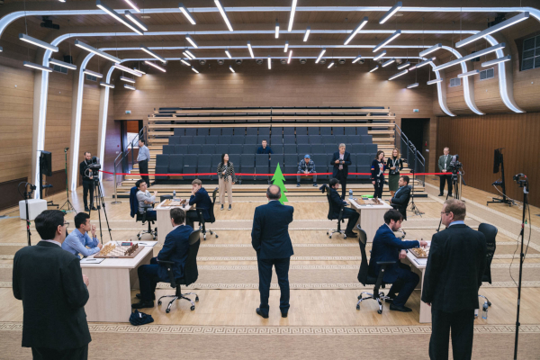 The playing hall has been almost emptied ! (Photo : Fide).