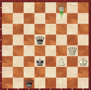 Mvl-Ding Liren, London Game 1; no, M. Ding, black doesn't have any mate in this position!