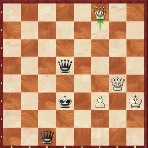 Mvl-Ding Liren, Londres 1e partie ; et non, M. Ding, les noirs n'ont pas de mat dans cette position !
