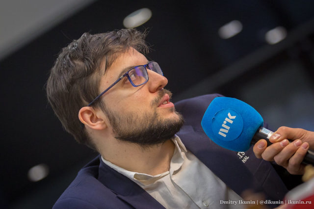 Maxime Vachier-Lagrave lors du championnat du monde de blitz. Photo : Dmitry Ikunin | http://ikunin.ru