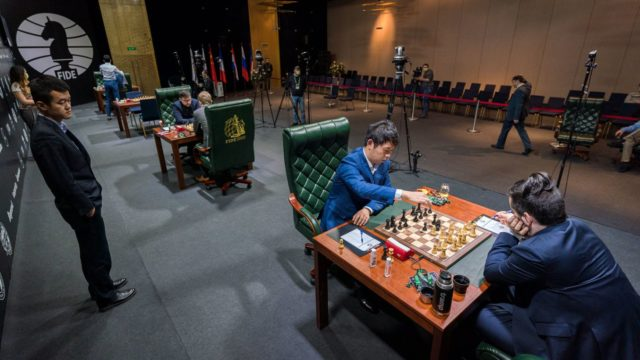 The playing hall (Photo: Ootes/Fide).