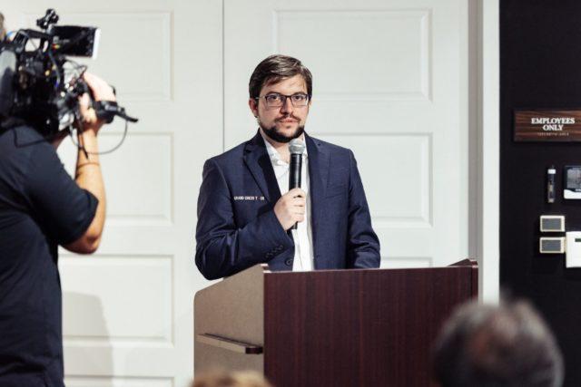 Discours du vainqueur (photo : GCT).